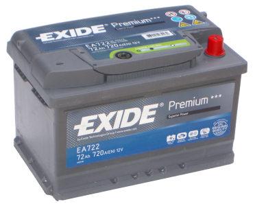 EXIDE Premium 72 Ah jobb +EA722